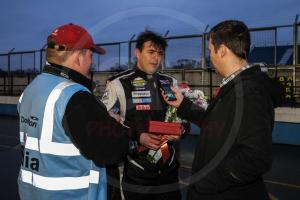 Me interviewing Britcar driver Javier Morcillo - Craig McAllister Photography